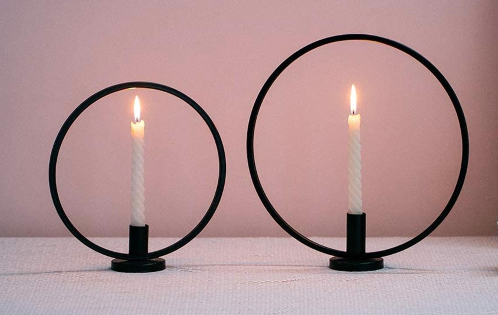 kreisrunder Kerzenständer